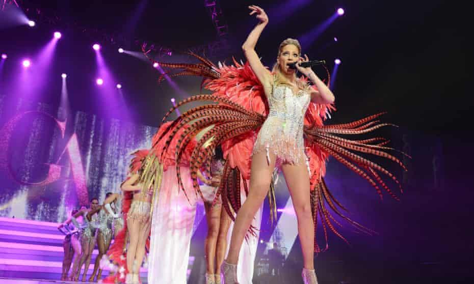 Sarah Harding performing on Girls Aloud's reunion tour, 1 March 2013.