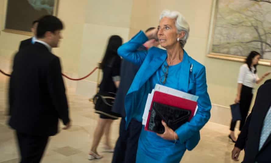 The International Monetary Fund's managing director, Christine Lagarde.