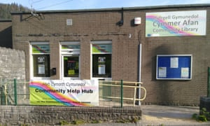 The Cymer Afan community library that has now been transformed into a food bank