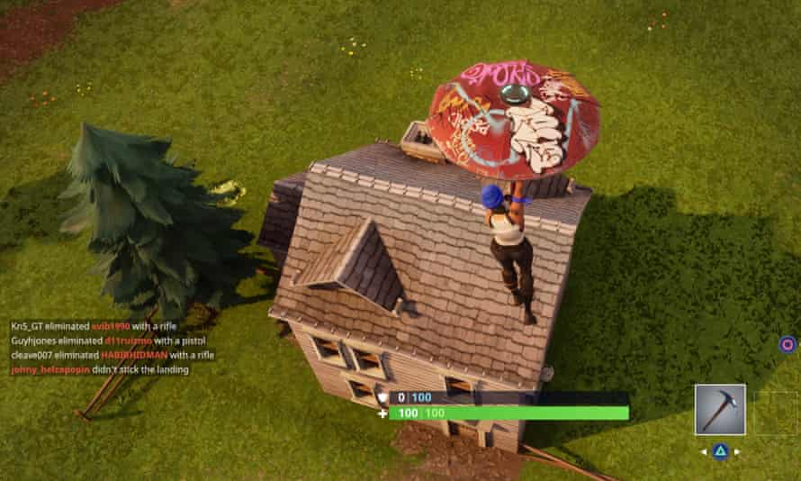 Fortnite Person Peeking Over Wall How To Survive In Fortnite If You Re Old And Slow Games The Guardian