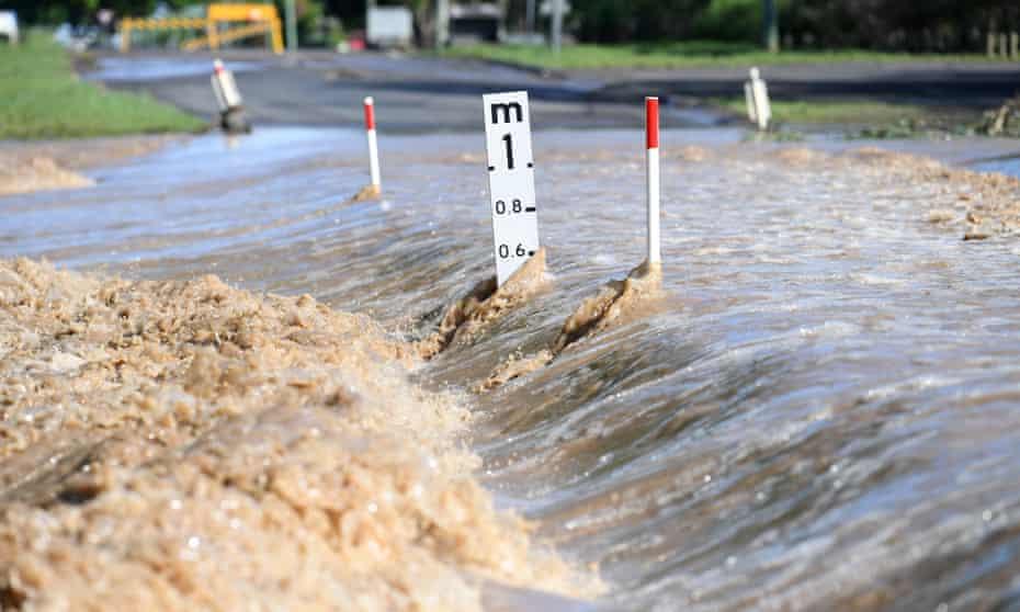 Flood waters in Queensland