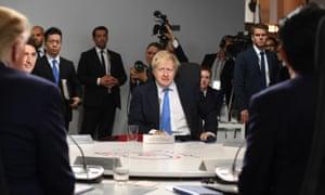 Boris Johnson at the G7