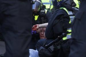 Paramedics tend to injured man