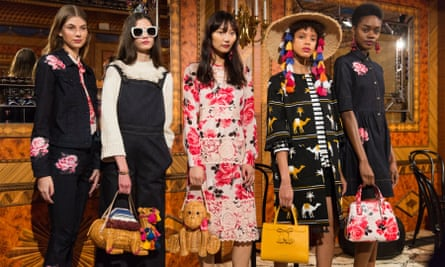 Kate Spade's designs at New York Fashion Week in February of 2017.