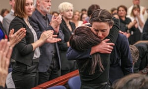 Rachael Denhollander in court last year, after Nassar was convicted on multiple counts of sexual abuse.