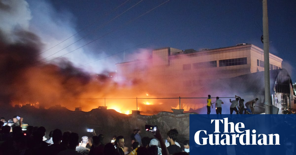 Dozens killed after fire rips through Iraqi Covid-19 hospital – video