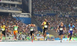 Usain Bolt wins his third consecutive Olympic 100m final