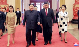 North Korean leader Kim Jong-un and Chinese president Xi Jinping meeting in China in March.