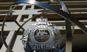 An Australian federal police badge