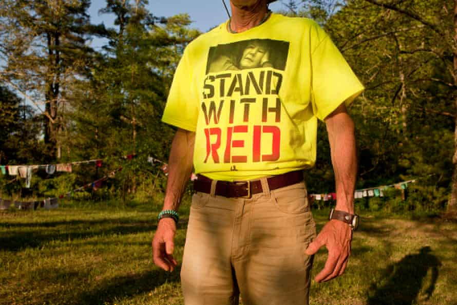 Friends and supporters gathered at the Mountain Mama Festival to raise funds to help Red pay the fines levied again her for her tree sit protest.