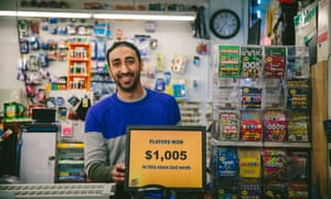 Mohammed Alamawi's Dalia Food Market in Chicago is selling lottery tickets for the first time this year.