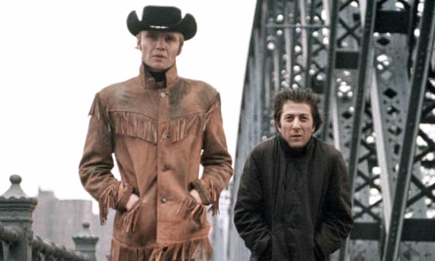 Small-town boy hits the big city … Voight, left, and Hoffman in Midnight Cowboy.
