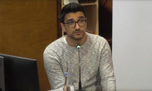 Farhad (Shekab) Neda giving evidence at the Grenfell inquiry