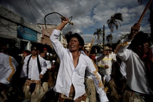 Cotacachi, Equador. People in the northern Andes celebrate Jatun Puncha, a summer solstice festival during which people stomp through the streets trying to awaken the Earth and thank it for the harvests
