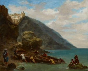 Tangier from the Shore by Eugène Delacroix, 1858, in the exhibition.