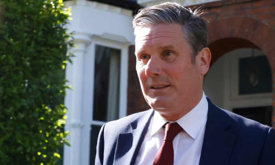 Labour Party leader Keir Starmer leaves his home in London on 7 May