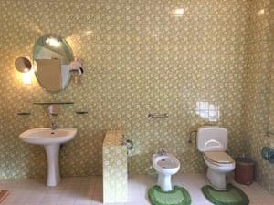 Hoxha's personal bathroom.