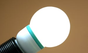 LED bulbs are super efficient and last longer.