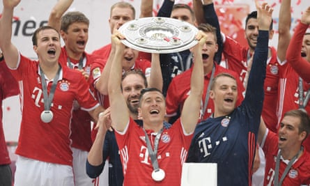 Bayern wrapped up their 25th Bundesliga title with a 2-1 win at Ingolstadt.