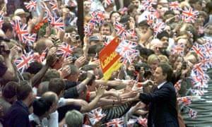 Tony Blair Downing Street 1997.