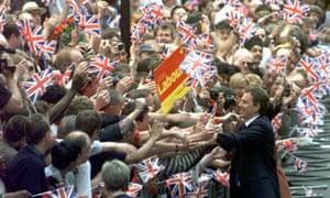 Blair celebrates 1997 landslide