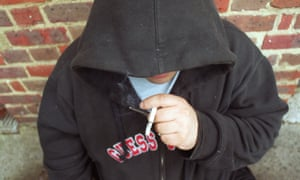 Crack cocaine drug addict photographed in North London