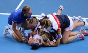 Fed Cup final, France v Australia