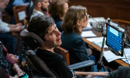 Ady Barkan testifies before the House rules committee.