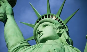 The Statue of Liberty, symbol of the beginning of a new life for many immigrants who saw her face when entering New York's harbor. Photograph: Mike Segar/Reuters
