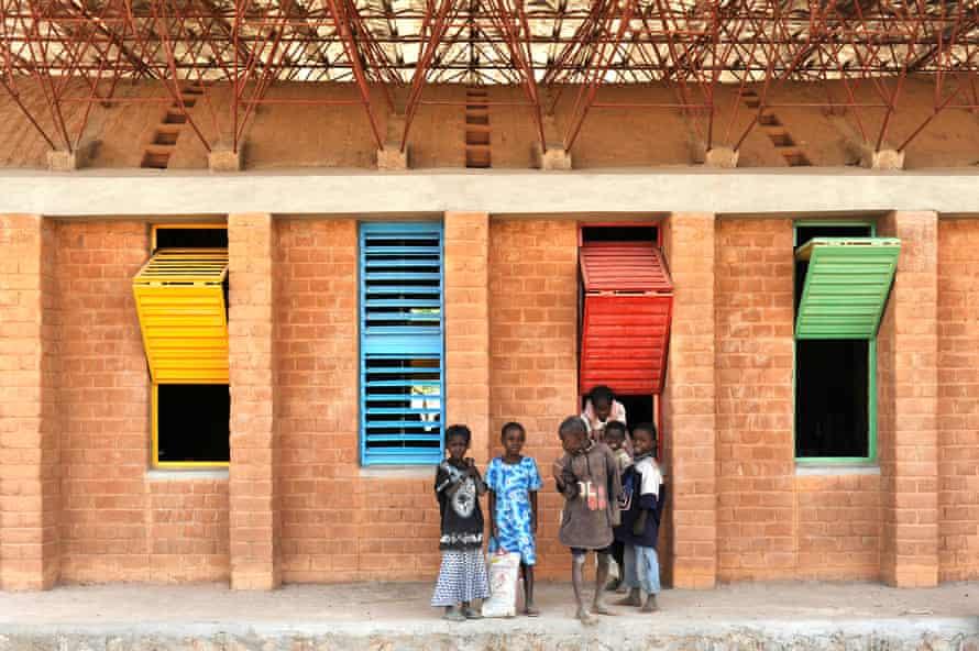 Gando school extension, developed out of Kéré's final year university project.