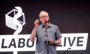 Jeremy Corbyn speaking at the Labour Live festival.