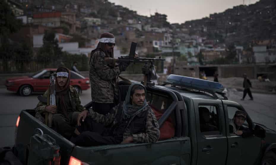 Taliban fighters in Kabul.