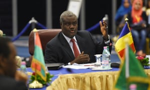 Moussa Faki Mahamat attends a meeting in Chad, in 2014