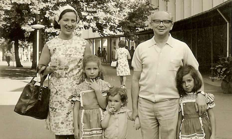 Noemie (second from left) with her parents, her brother, Alain, and sister, Muriel, in 1976.