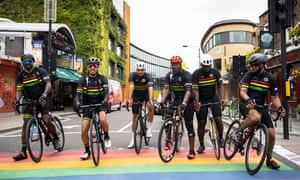 Members of the Black Cyclist Network in Camden, London, this week.