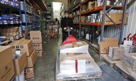 palettes inside warehouse