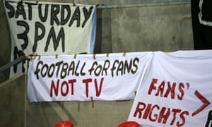 Fans' banners at Broadhurst Park