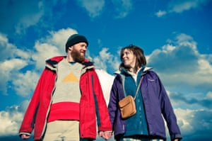 Steve Oram and Alice Lowe in Wheatley's 2012 black comedy Sightseers.