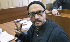 Kirill Serebrennikov in court in Moscow in January. He has been under house arrest since he was charged in August 2017 with helping to embezzle state funds.