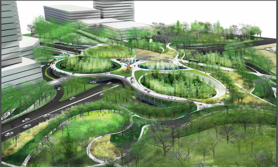 More greenery could transform areas of Dallas such as the Southwestern Medical District, one of the hottest areas of the city thanks to its high concentration of roads, concrete and buildings.