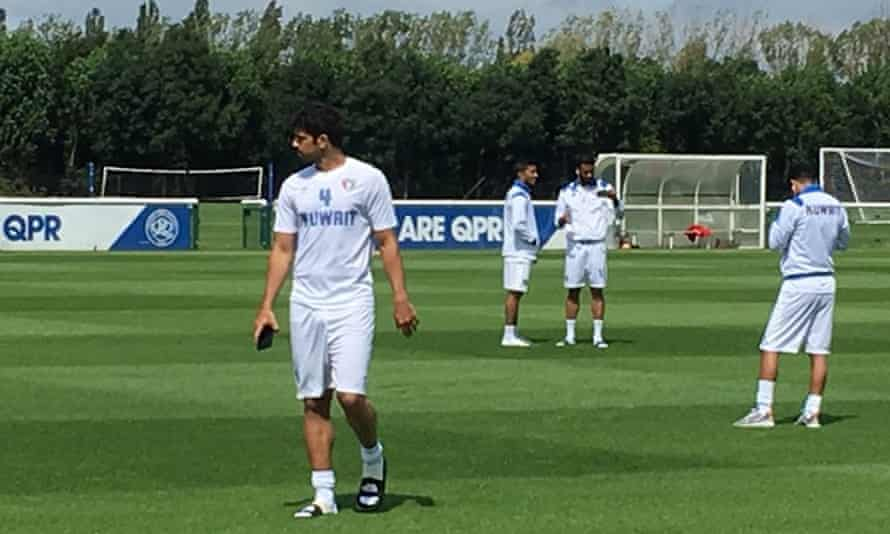 Kuwait at QPR's training ground for a match that never happened.