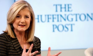 Arianna Huffington, founder of the Huffington Post, which is now owned by AOL, and which has lost 12m unique visitors in just a year.