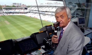 Ritchie Benaud pictured in 2004, when he was commentating for Channel 4.