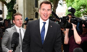 Jeremy Hunt won't prosper by trying to imitate his opponent