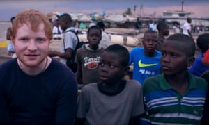 In his video for 2017 Comic Relief, Sheeran commits to placing two boys in a hotel until they can be 'sorted out'.