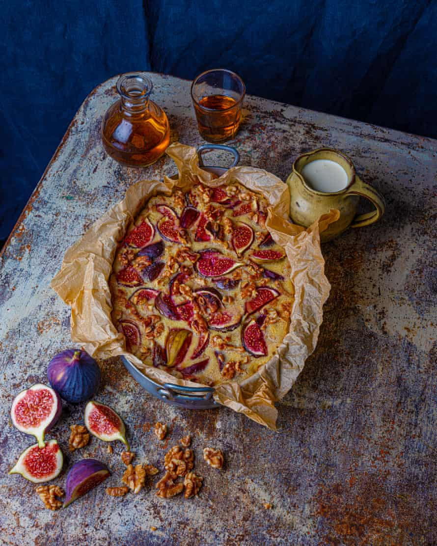 Especially good with rye bread: fig and walnut pudding.
