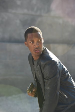 The new reluctant psychopathic superhero … Eric Carter, played by Corey Hawkins.
