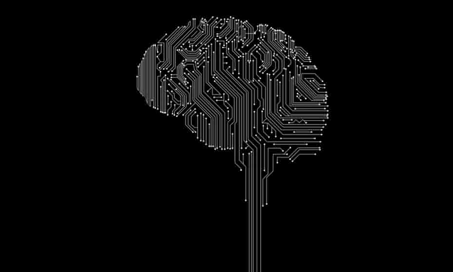 illustration: circuit board in shape of a brain
