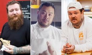 Cuisine kings: Action Bronson, David Chang and Matty Matheson.