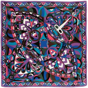 A 'Naga' print scarf in silk twill from 1964.